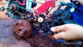 Xe công nông mini qua bùn và dóc