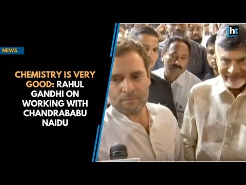 Chemistry is very good: Rahul Gandhi on working with Chandrababu Naidu