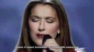 Celine Dion - The firs time ever i saw your face (sottotitoli in italiano)