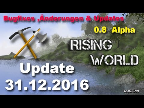 Rising World - Update 0.8  Wetter, Tiere, Dungeon  # Teil 1