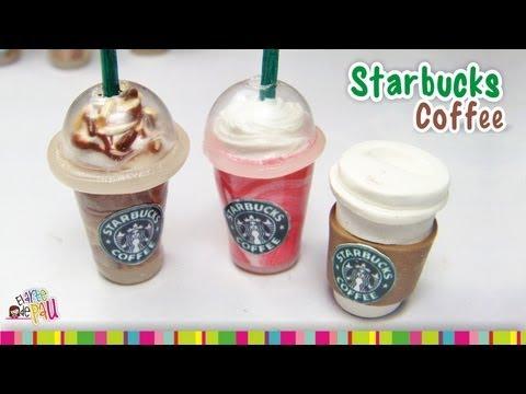 Starbucks Coffee (LID) polymer clay tutorial /  Caf é de Starbucks de arcilla polimérica