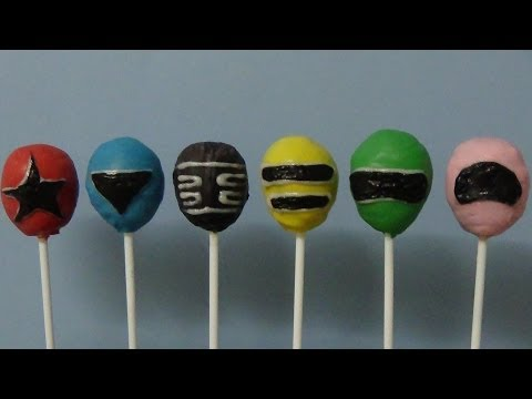 cake pops power rangers