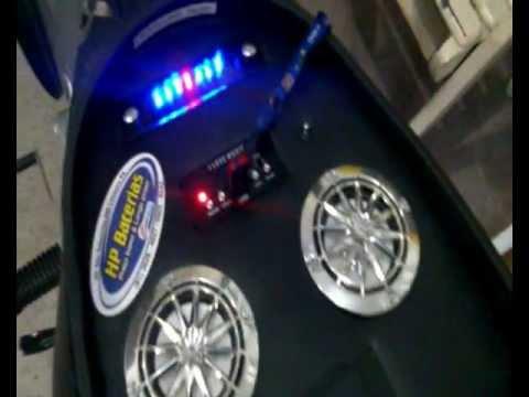 Som Moto Biz hp Baterias Equipando Moto Biz