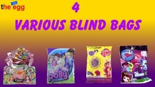 4 various Blind Bags, Filly Mermaids, Polly Pocket, My Little Pony, Littlest PetShop unboxing