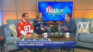 Email Phishing Scams Contain Death Threats! -  Stan Prager of GoGeeks on Western Mass News TV