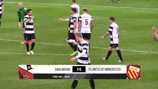Darlington 4-2 FC United of Manchester - Vanarama National League North - 2016/17