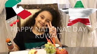 MAKING HEALTHY SNACKS FOR KUWAIT NATIONAL DAY!!