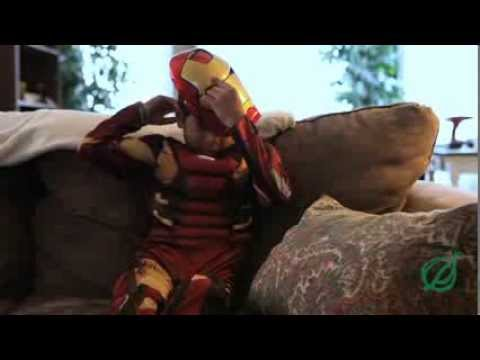 Child Sees No Reason Why Iron Man Costume Can't Be Worn To Grandfather's Funeral