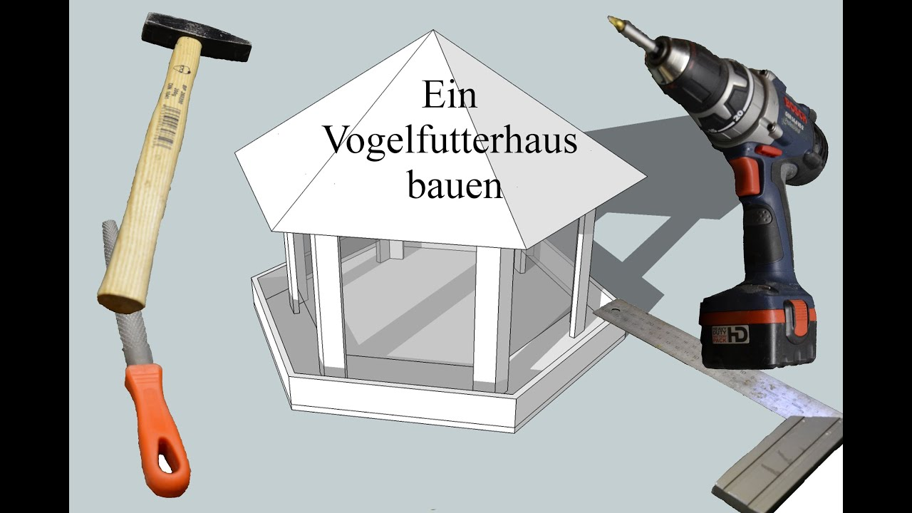 ein vogelfutterhaus bauen youtube. Black Bedroom Furniture Sets. Home Design Ideas
