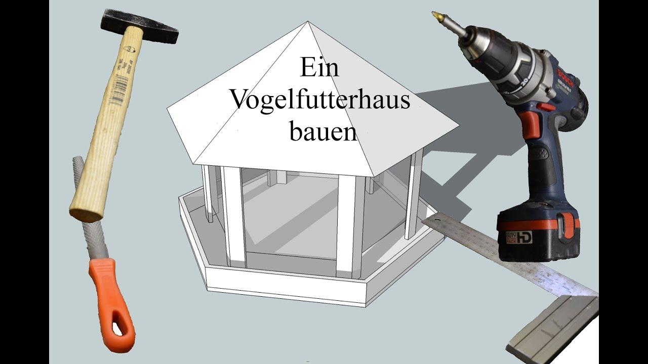 Ein vogelfutterhaus bauen youtube for Vogelfutterhaus selber bauen