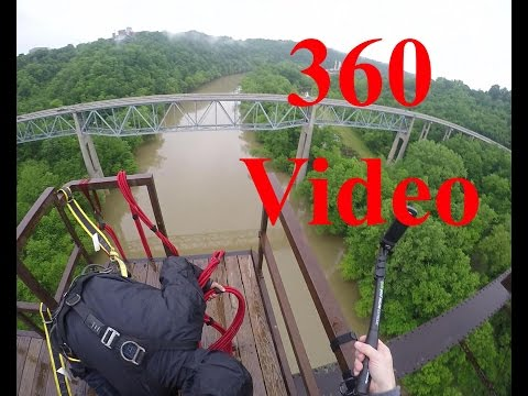 Young's High Bridge 360 video Bungee Jump
