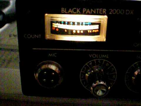 Black Panter 2000DX old AM/SSB CB-Export Radio 27.555 Mhz