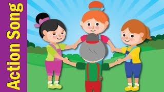 Around a Circle | Action Songs for Kids | Kindergarten, Preschool & ESL | Fun Kids English