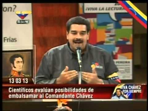 Maduro dice que no podrán embalsamar a Chávez