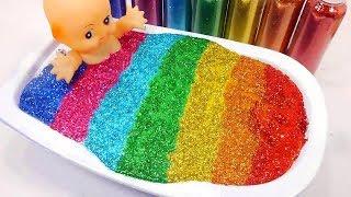 Glitter Slime Bath baby - Bain paillettes et Slime pour le bébé meilleurs jouets play doh slime