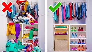20 GENIUS ORGANIZING HACKS | Cool Ideas And DIY Crafts To Transform Your Home