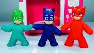 Pj Masks Toys Wrong Head l Play Doh #wrongheads  l Pj Masks transform with microwave toys #pjmasks