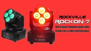 Rockville ROCKON-7 Intelligent Moving Head Light DEMO & TUTORIAL