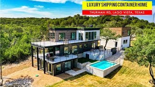 Luxury Shipping Containers House in Lago Vista, Texas, USA