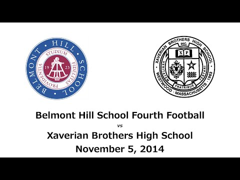 Belmont Hill School, Fourth Football, vs Xaverian Brothers High School, 11/05/2014