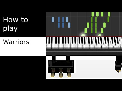 Imagine Dragons - Warriors - Kyle Landry Cover (piano tutorial - Synthesia)