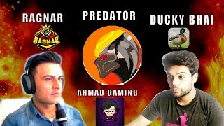 PUBG MOBILE with Ducky Bhai, Predator, Ahmad Gaming - Ragnar Live Gaming