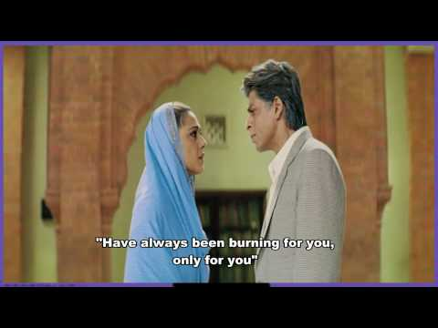 TERE LIYE - VEER ZAARA - ENG SUBS - FULL SONG - *HQ* & *HD* (...