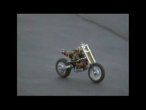 1/4 scale r/c motorcycle: Active Stabilization System - On Road Testing
