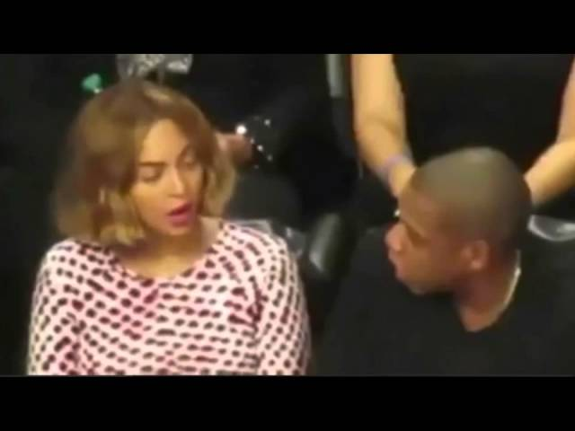 Beyonce and Jay Z at Game