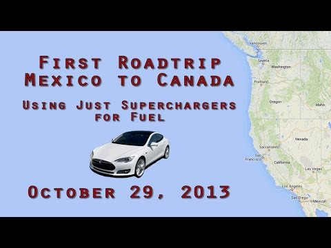 Border to Border Road Trip Using Tesla Superchargers