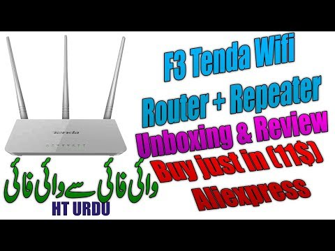 Tenda F3 Router & repeater Unboxing & Review (Wifi to wifi Router)