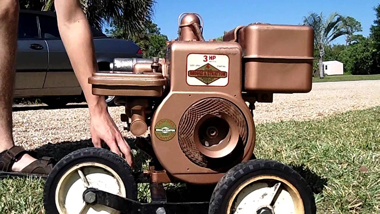 antique briggs stratton 3hp cold start old start youtube. Black Bedroom Furniture Sets. Home Design Ideas