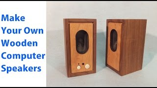 How to Make Wood Speakers for Your Computer - Mini Computer Speakers