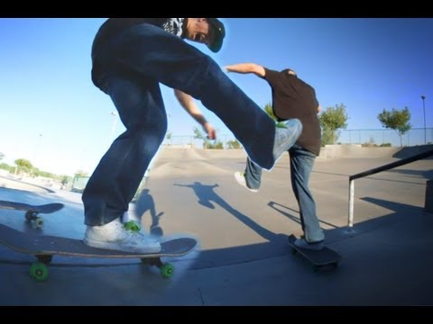 5050 RAIL TO ONE FOOT BLUNT 180 WHILE DOING KARATE