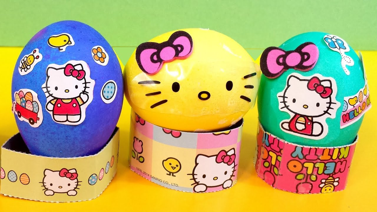 Dyeing Hello Kitty Easter Egg Decorating Kit 2014