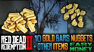 FAST AND EASY MONEY! 10 Gold Bar, Nuggets and Other Items Locations in Red Dead Redemption 2