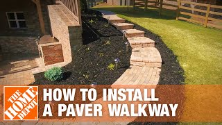How to Install a Paver Walkway | The Home Depot