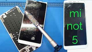 Mi not 5 broken glass replacement | mi not 5 glass change without mobile open | mi not 5 glass chang