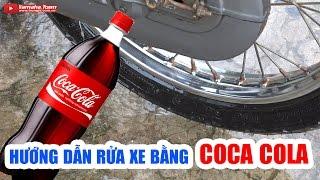 Hướng dẫn rửa xe máy bằng Coca Cola siêu sạch ▶