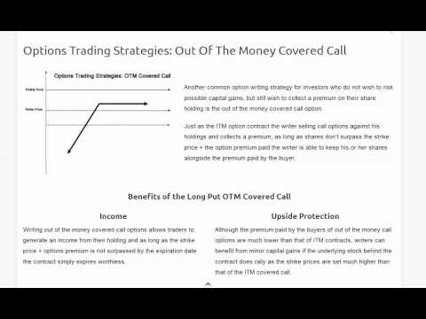 Deep in the money option trading