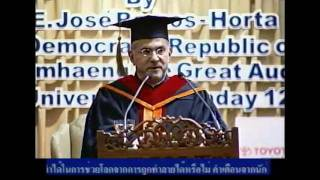 Keynote Speech by HE President Dr. Jose Ramos-Horta in Bangkok, with an introduction by Uwe Morawetz