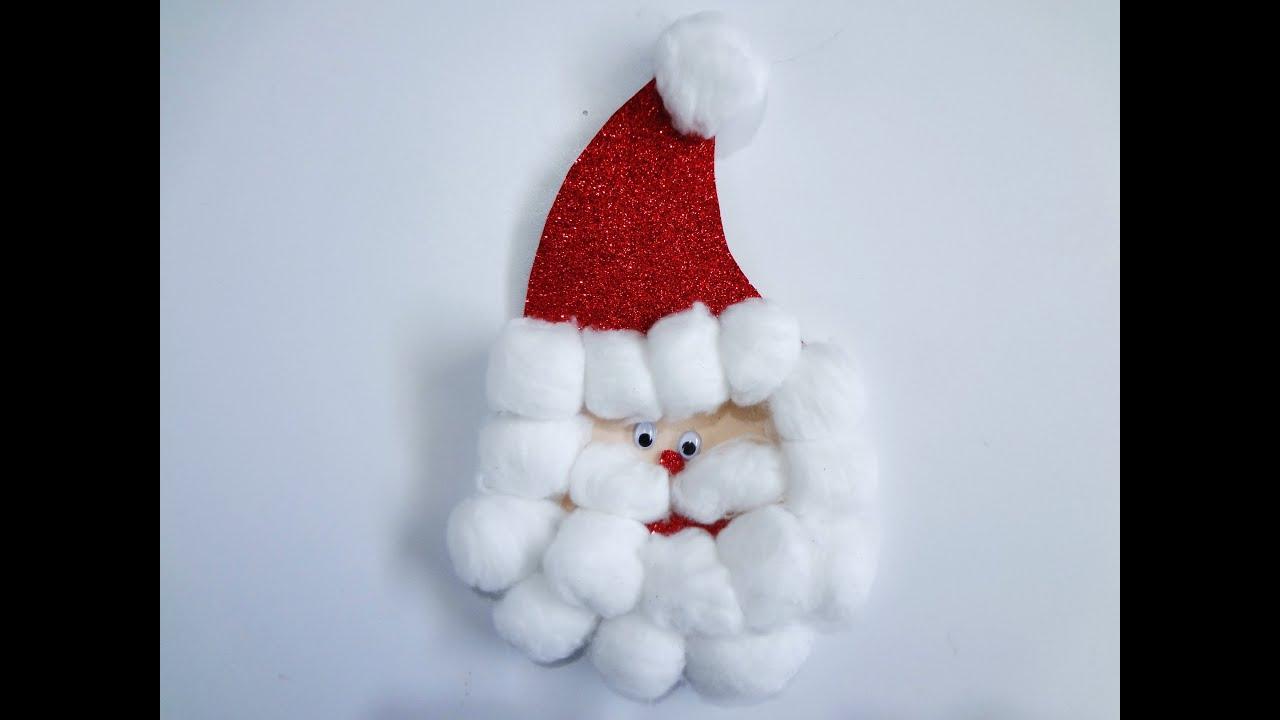 Manualidad para navidad santa de fomi youtube - Manualidad ninos navidad ...