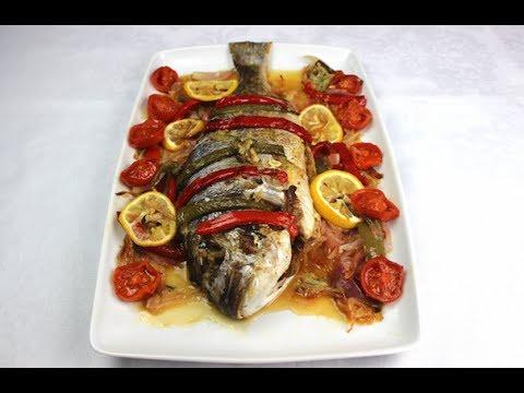 Dorada al horno con verduras receta de navidad youtube for Cocinar berenjenas facil
