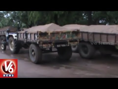 Police Busts Sand Mafia In Bhadradri Kothagudem District | V6 News