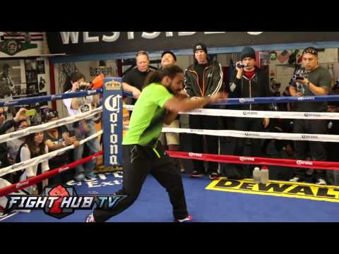 Keith Thurman vs Julio Diaz Thurman media workout video