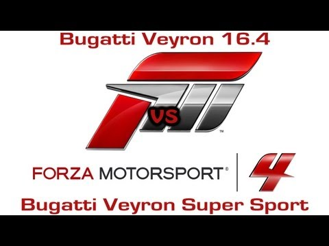 Forza Motorsport 4 – Bugatti Veyron 16.4 vs Bugatti Veyron Super Sport – Drag Race