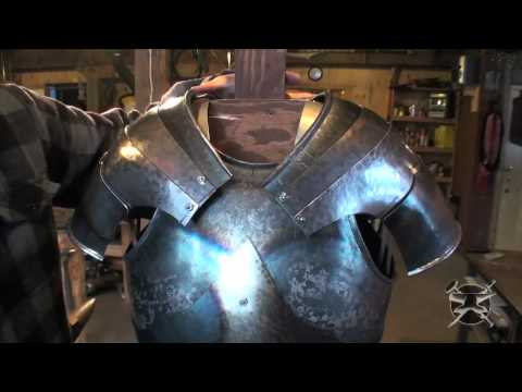Fabrication d'armure médiévale Making of medieval armor #17
