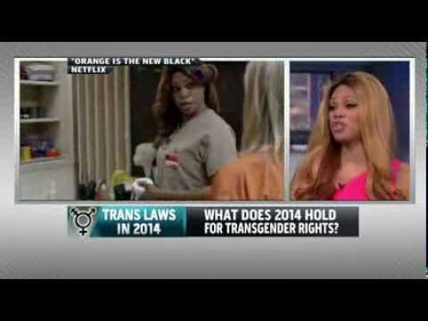 Laverne Cox and Michael Silverman on MSNBC