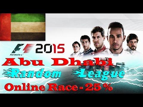 F1 2015 - Abu Dhabi - Random League (Realistic physics) Race 4 (PC)