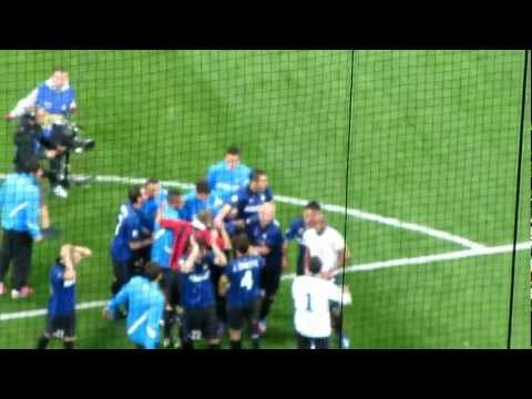 Ivan Ramiro Cordoba last game, Inter-Milan 4-2, The Derby 06/05/2012, San Siro, Milan, Italy